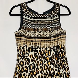 Gabby Skye mixed animal print dress w pockets, 4